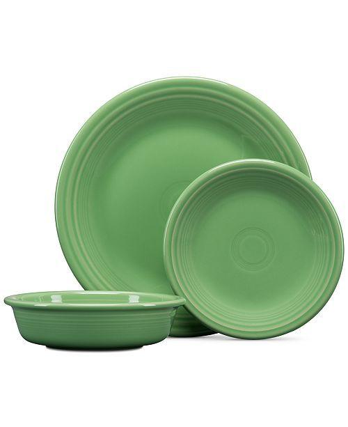 Fiesta Meadow 3-Pc. Classic Set & Reviews - Dinnerware - Dining - Macy's