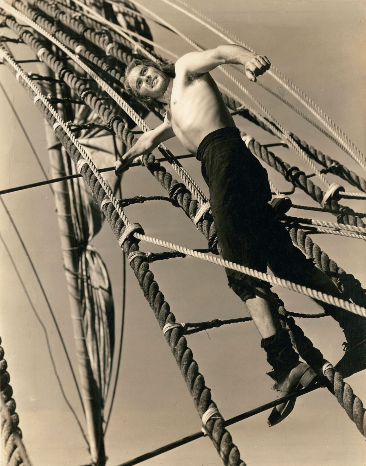 "Errol Flynn en ""El Capitán Blood"" (Captain Blood), 1935"