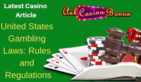 Online Casino Us Law