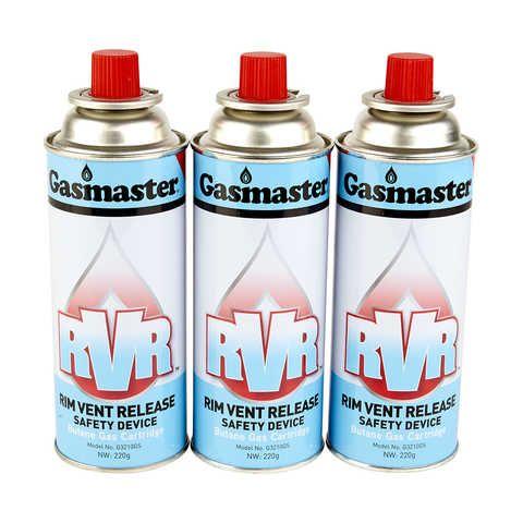 Gasmaster Butane Gas Cartridges Set Of 3 Kmart
