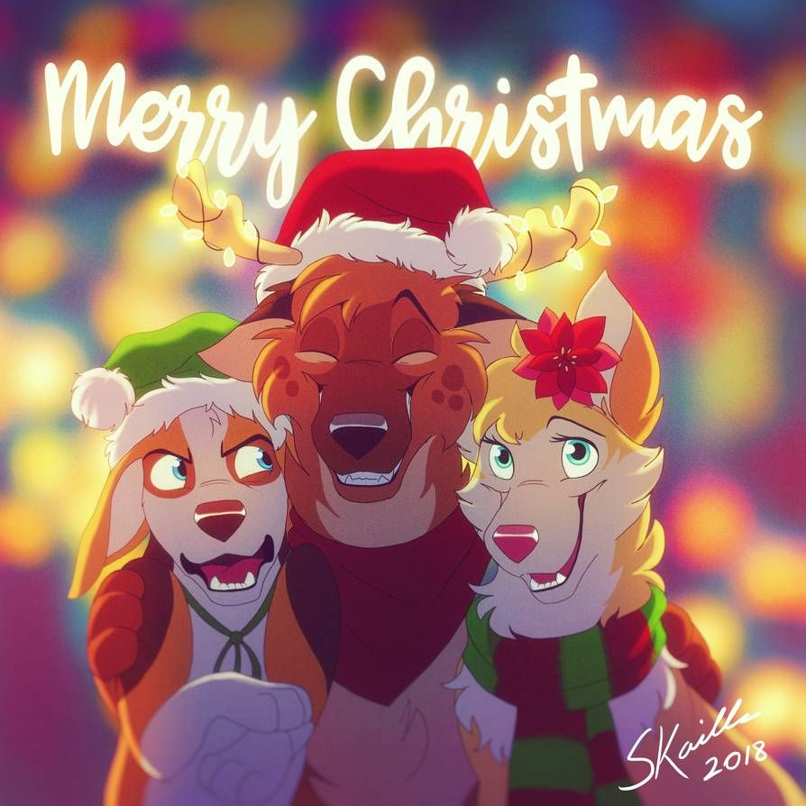 All I Want For Christmas By Skailla Furry Art Furry Drawing Anime Wolf