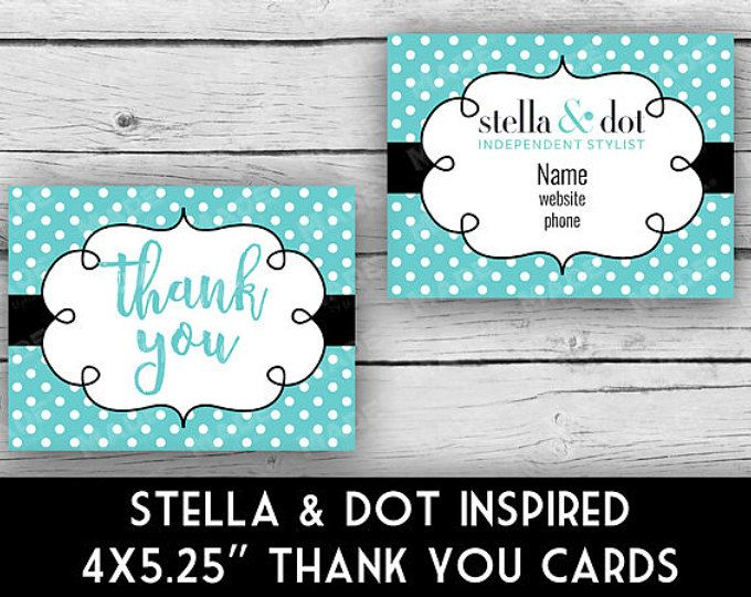 Stella  Dot Inspired Business Thank You Note Card Set  Turquoise