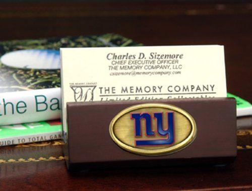 lowest price d138f 748b4 Amazon.com : New York Giants Team Business Card Holder NFL ...