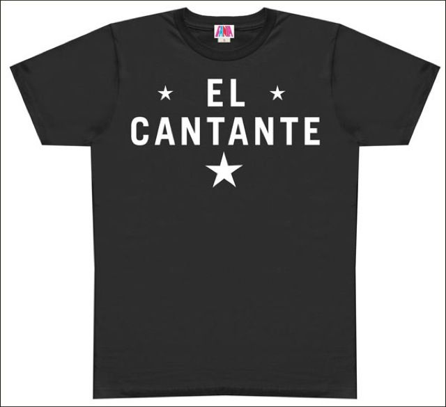 Hector Lavoe's Favorite T-shirt for all his concerts, only available on http://www.fania.com/content/el-cantante-black-t-shirt