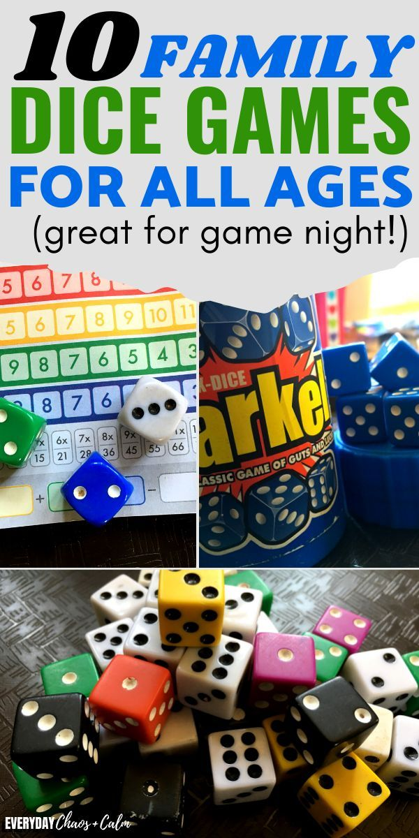10 Fun Dice Games For Kids And Families in 2020 Kids