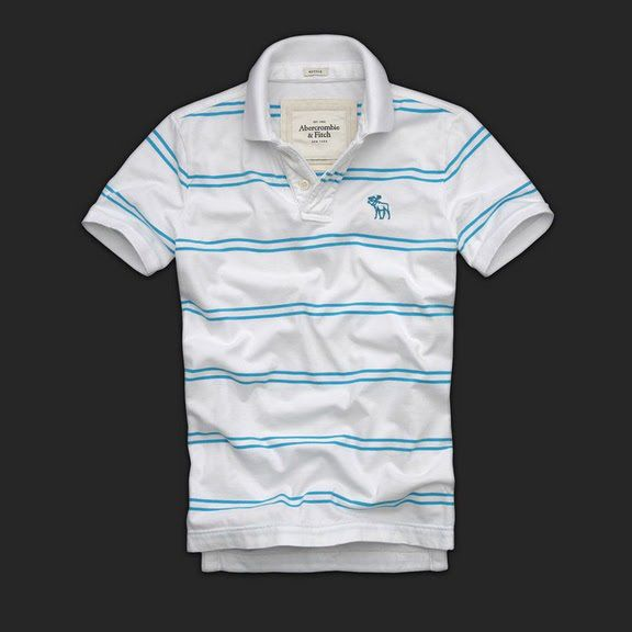 Cheap Abercrombie & Fitch Mens Polo Strip Short T Shirts AFT1066 http://abercrombie-sale.net/