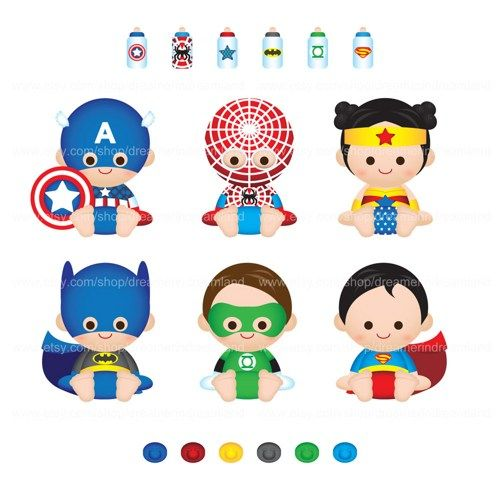 Superhero super baby boy girl pdf png clip art digital file voltagebd Image collections