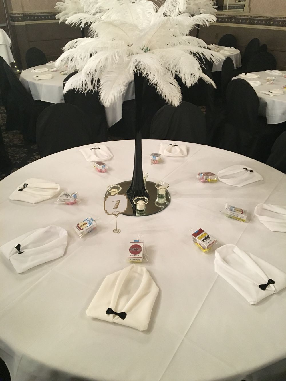 Centerpieces for our roaring 20\'s wedding. | My 1920\'s Themed ...