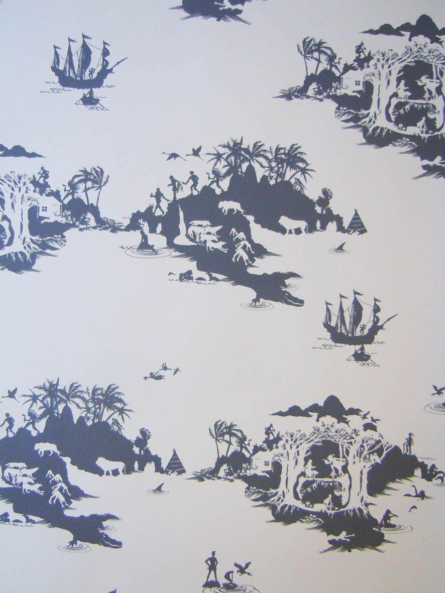 Peter Pan Wallpaper So Cute For A Little Kids Room!