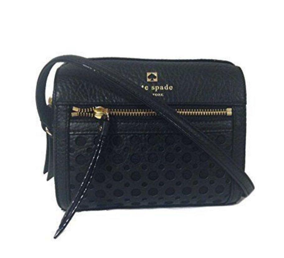 91f7b7e03139 Kate Spade Bubbles LooLoo Perri Lane Black Leather Crossbody Bag NWT  248   katespade  MessengerCrossBody