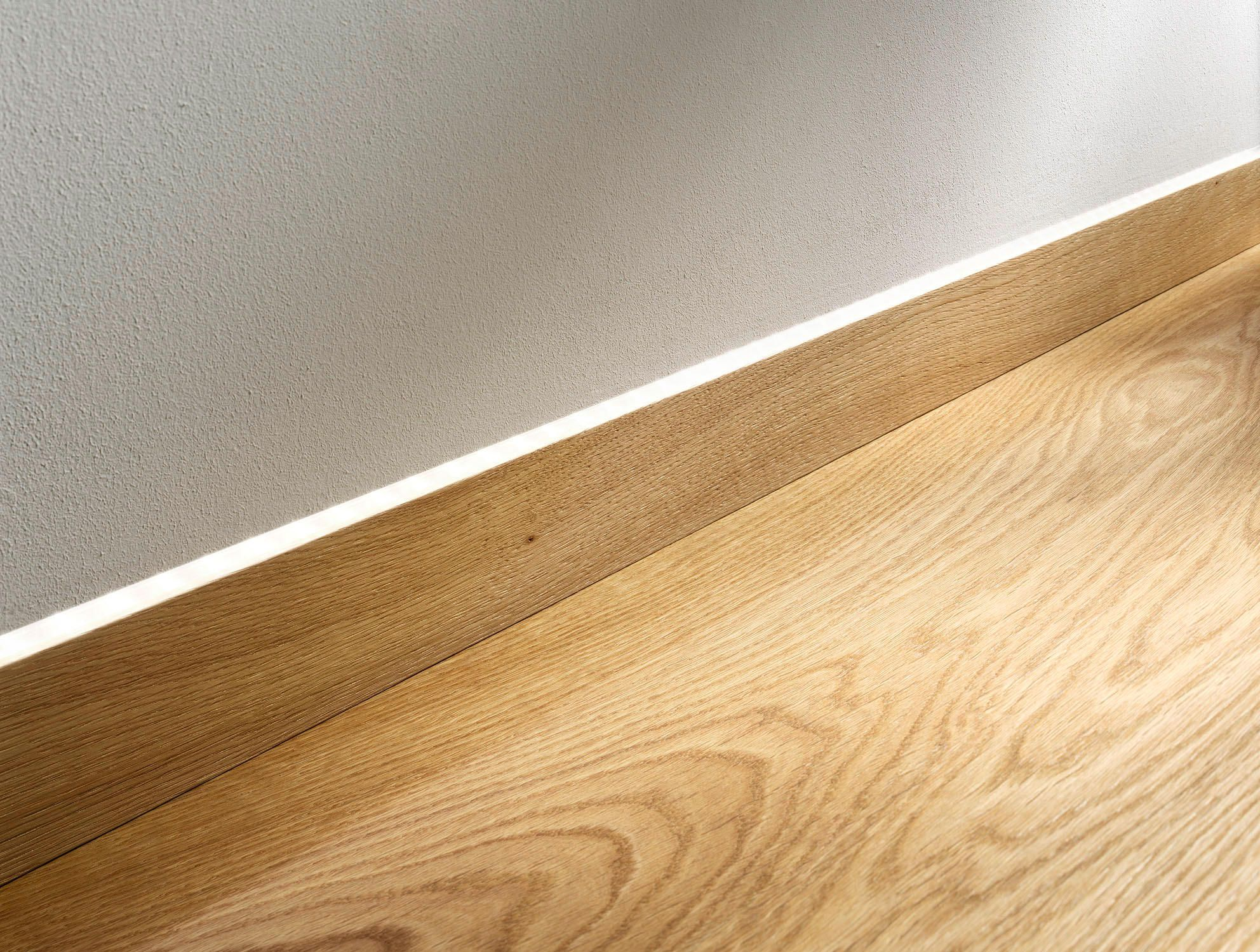 Flush mount skirting board with led by admonter baseboards