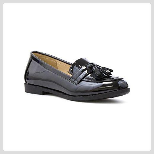 Lilley Damen Casual Flacher Slip-on Schuh in Schwarz - Größe 8 UK/42 EU - Schwarz wFkB4USM
