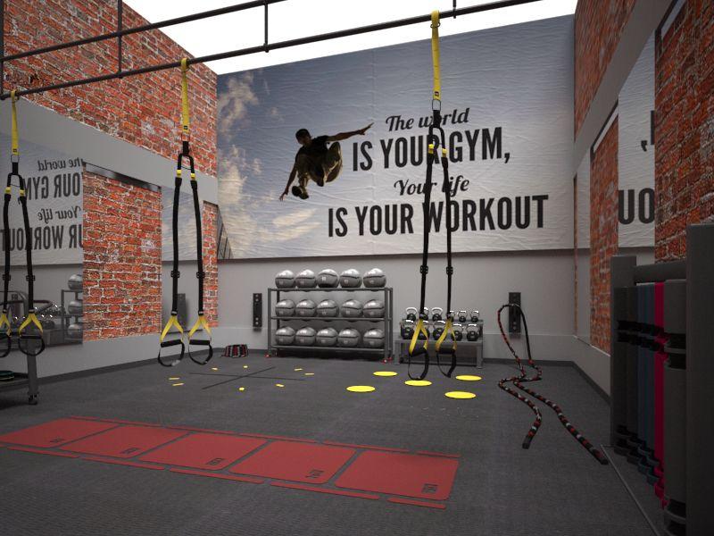 Racquetball Court Conversion Designed For Health Clubs Gym Decor Gym Design Interior Gym Interior