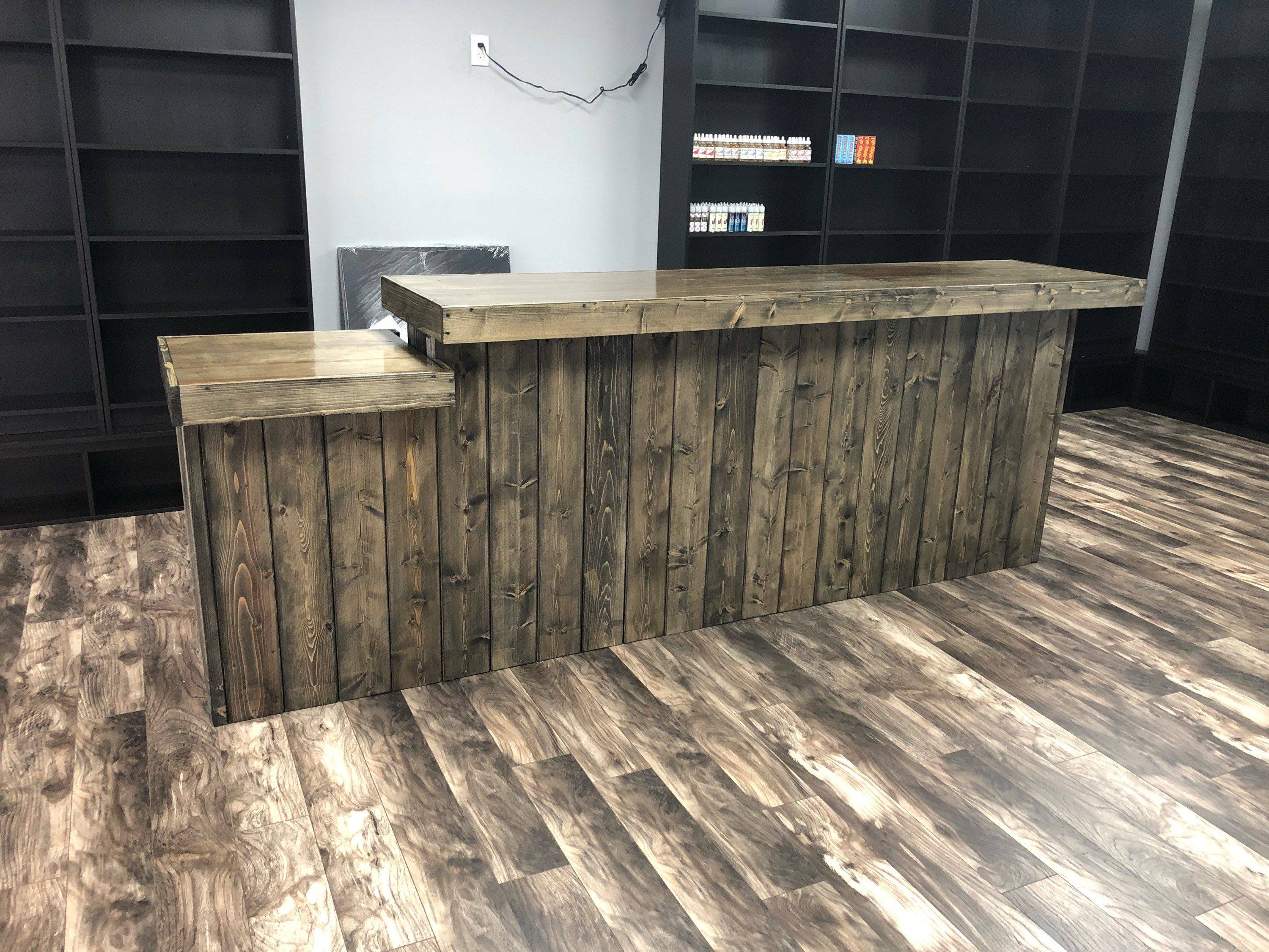 Sale Counter Design The Ebony Drop 10 39 Rustic Barn Wood Or Pallet Look
