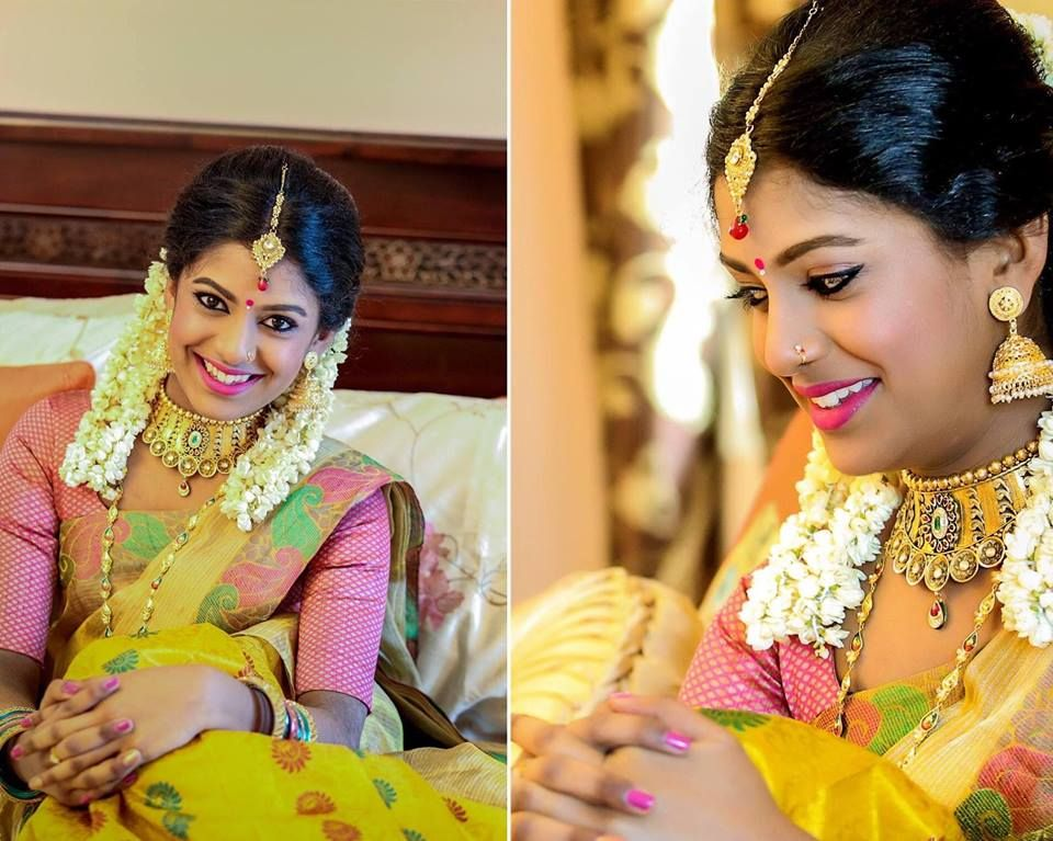 (1) Tamil Vivah | Indian wedding hairstyles, South indian bride