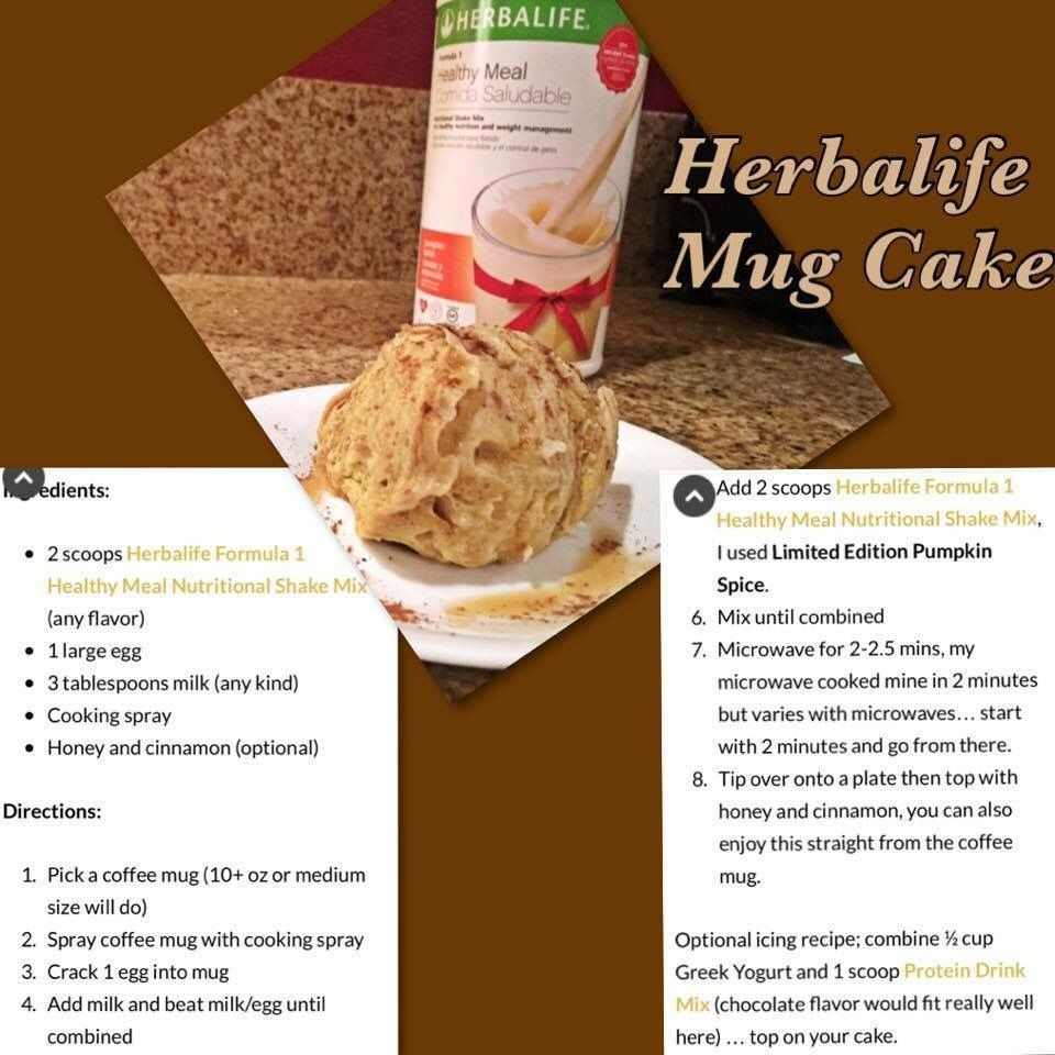 Herbalife Mug Cake Recipes