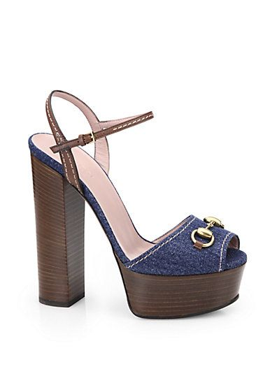8fe64312a Gucci - Claudie Denim Platform Sandals