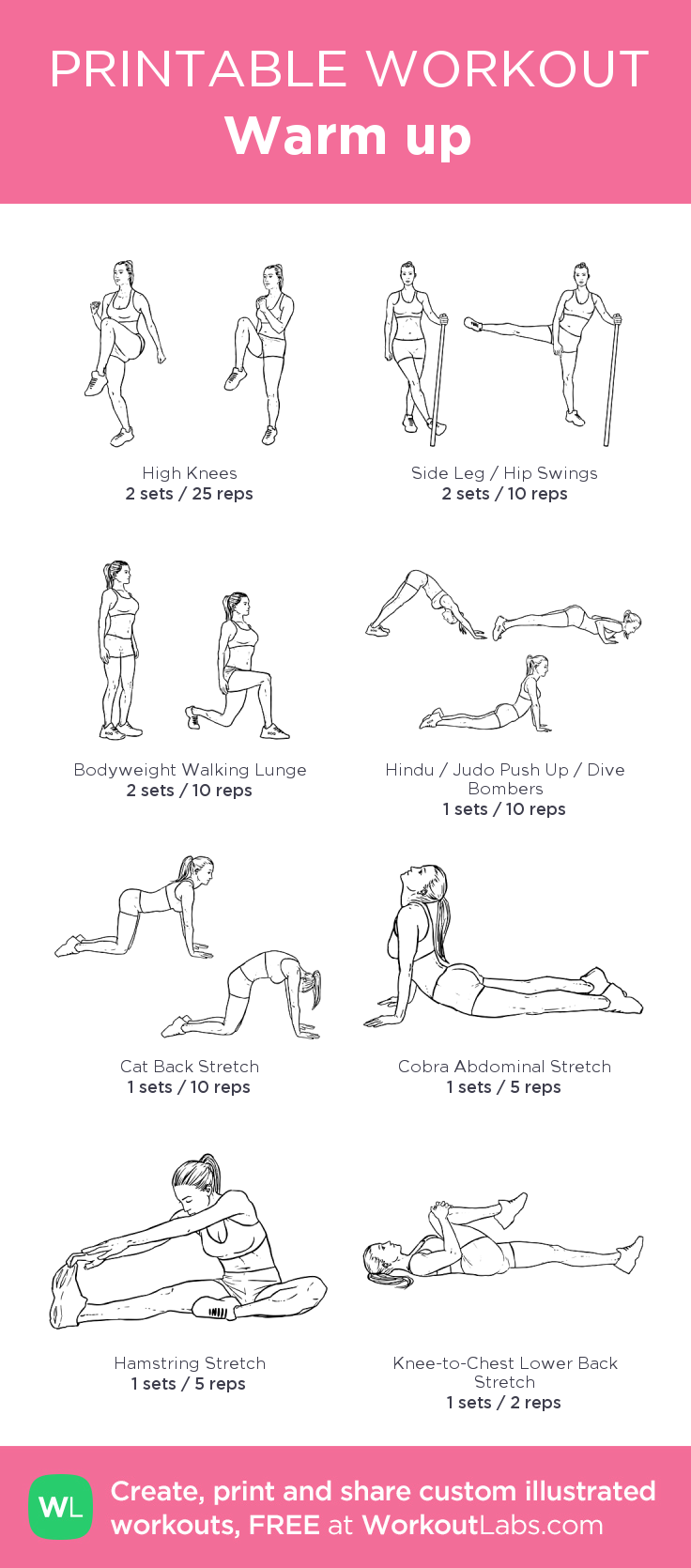 Warm up: my custom printable workout by @WorkoutLabs # ...