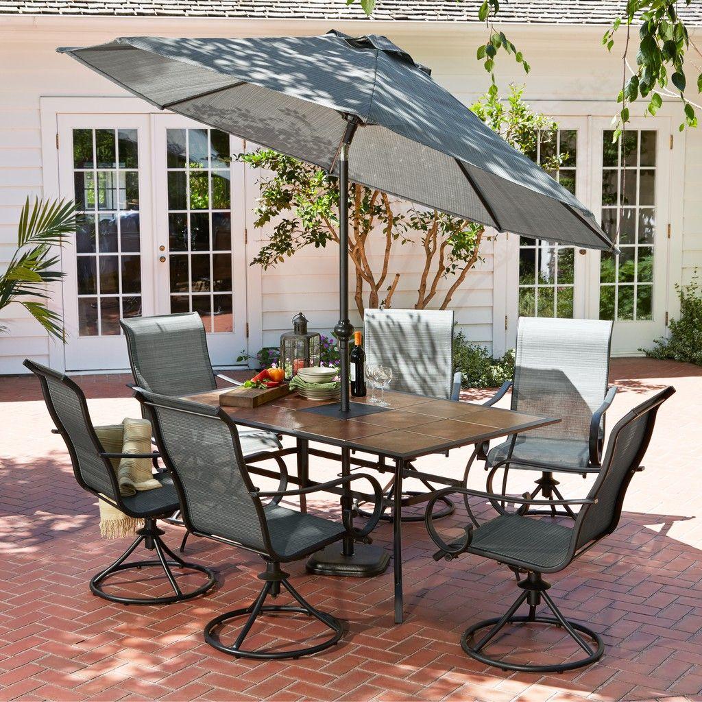 Hd Designs Outdoors 174 Franklin Park 7 Piece Patio Set In
