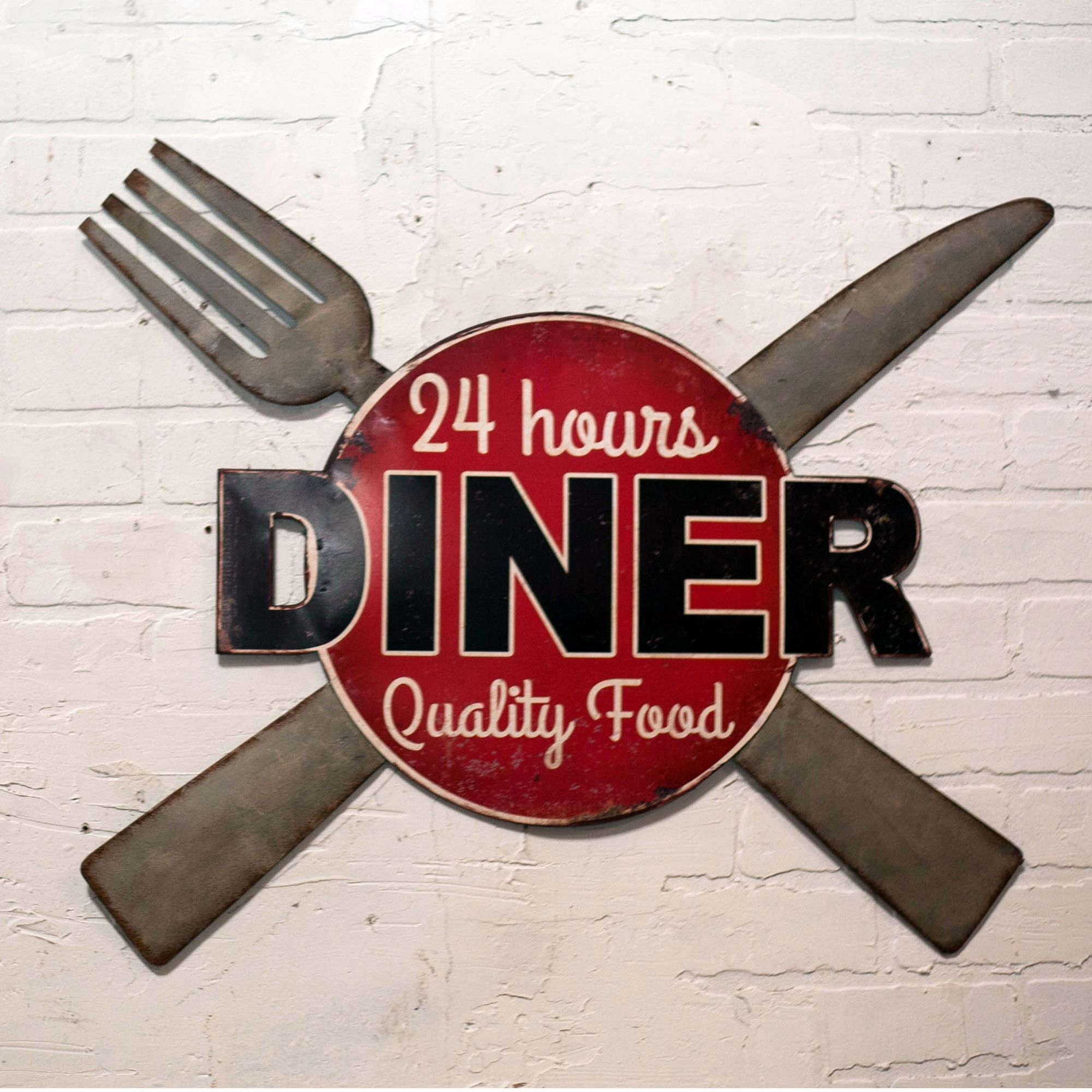 Metal Sign Diner Wall Décor