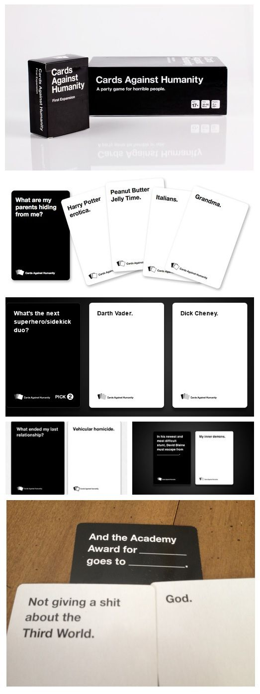 I LOVE CARDS AGAINST HUMANITY!