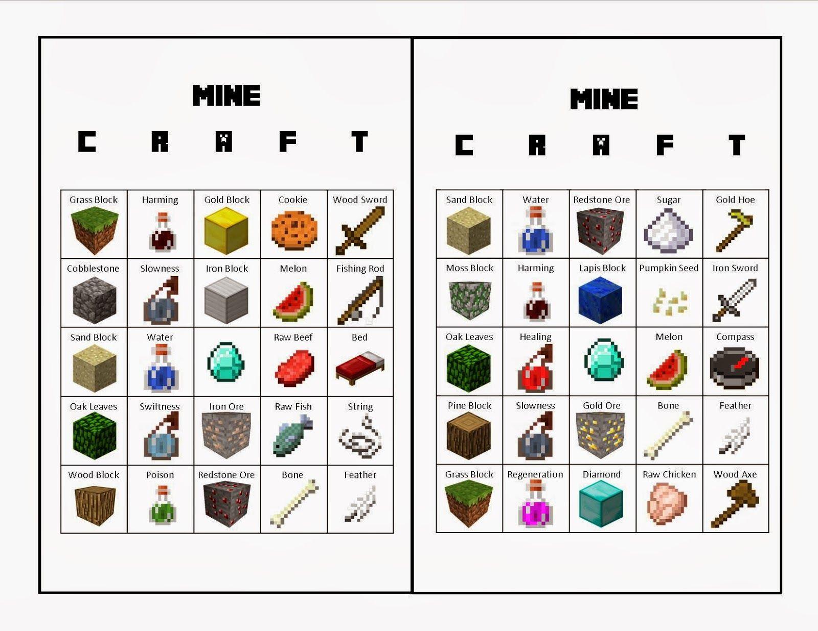 Cards.jpg 1,600×1,236 pixels | Minecraft | Pinterest | Elementos y ...