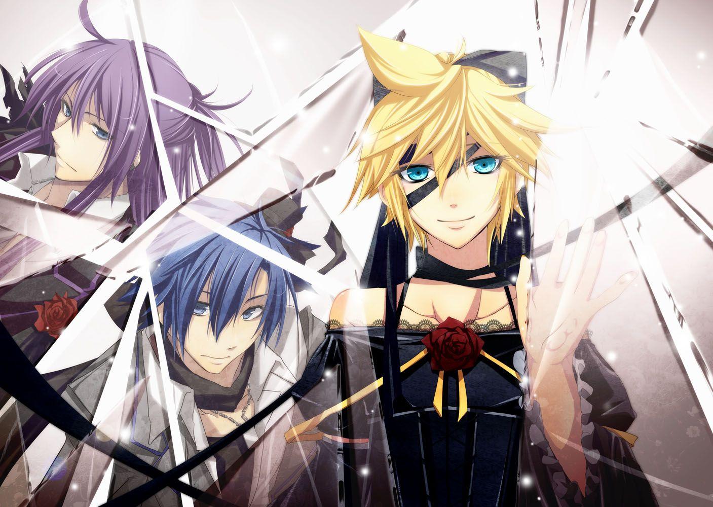 Vocaloid - Imitation Black - Kamui Gakupo, KAITO, Kagamine ... Kaito X Len X Gakupo