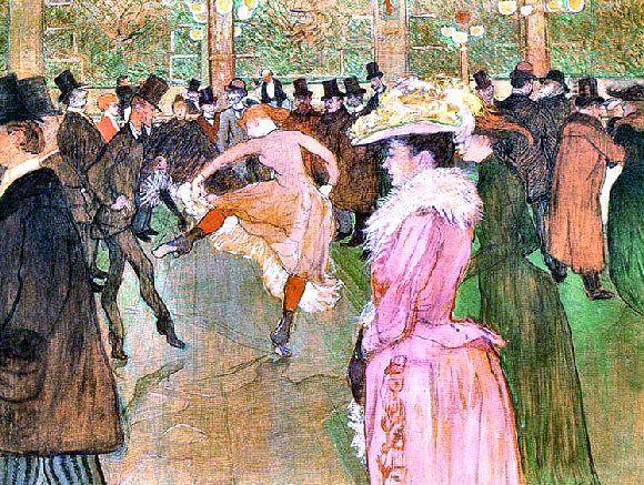 Toulouse Lautrec La Danse Au Moulin Rouge Con Imagenes