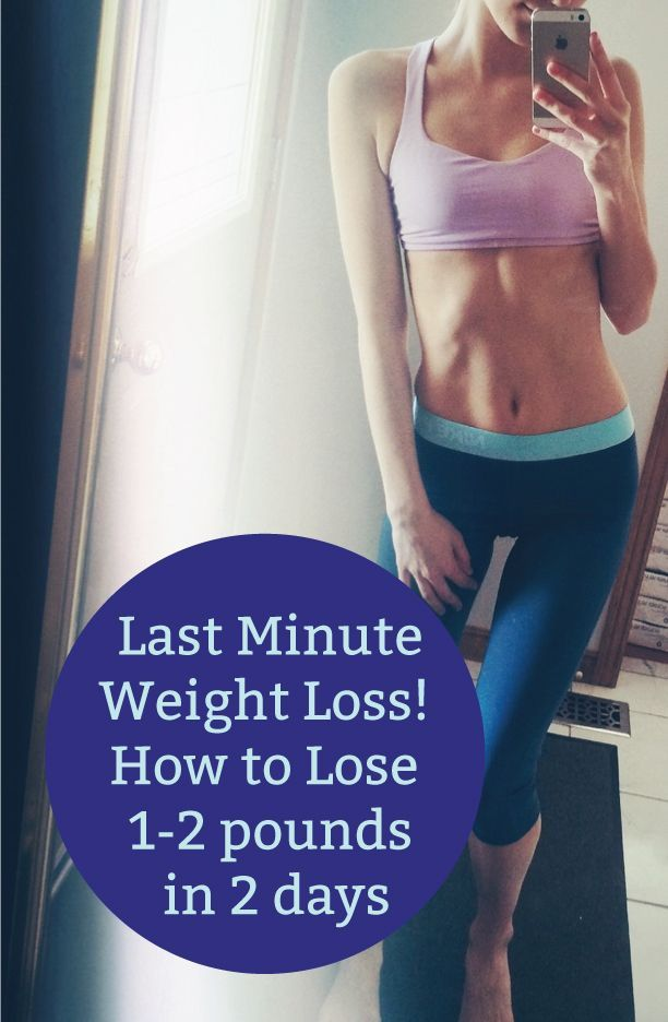 how to lose weight in days in 2 days