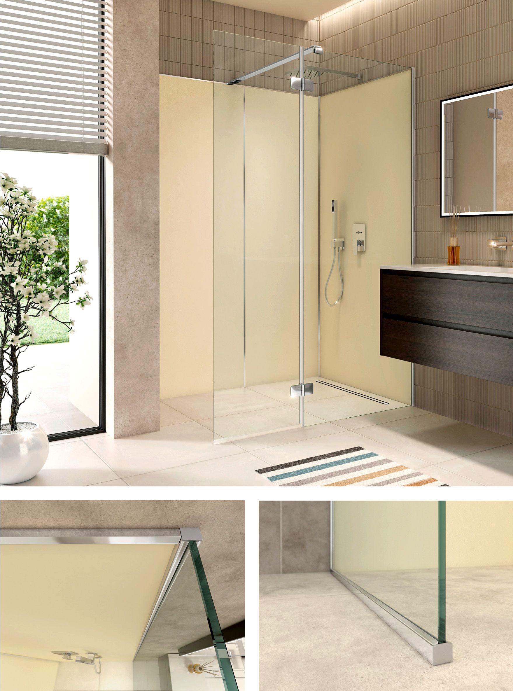 Die Neue Walk In Duschenserie Artweger Zero Perfekte Kombination Fur Die Renovierung Die Profile Werden Auf Den Bestehenden Fl Dusche Duschraum Walk In Dusche