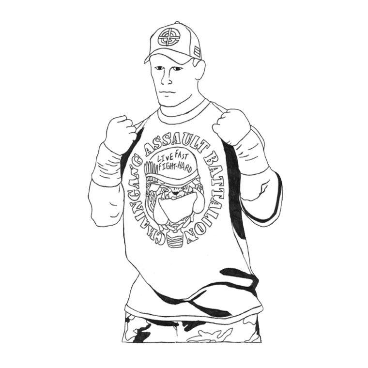 John Cena Styling Sketch-Free Download,http://colorasketch.com/john ...