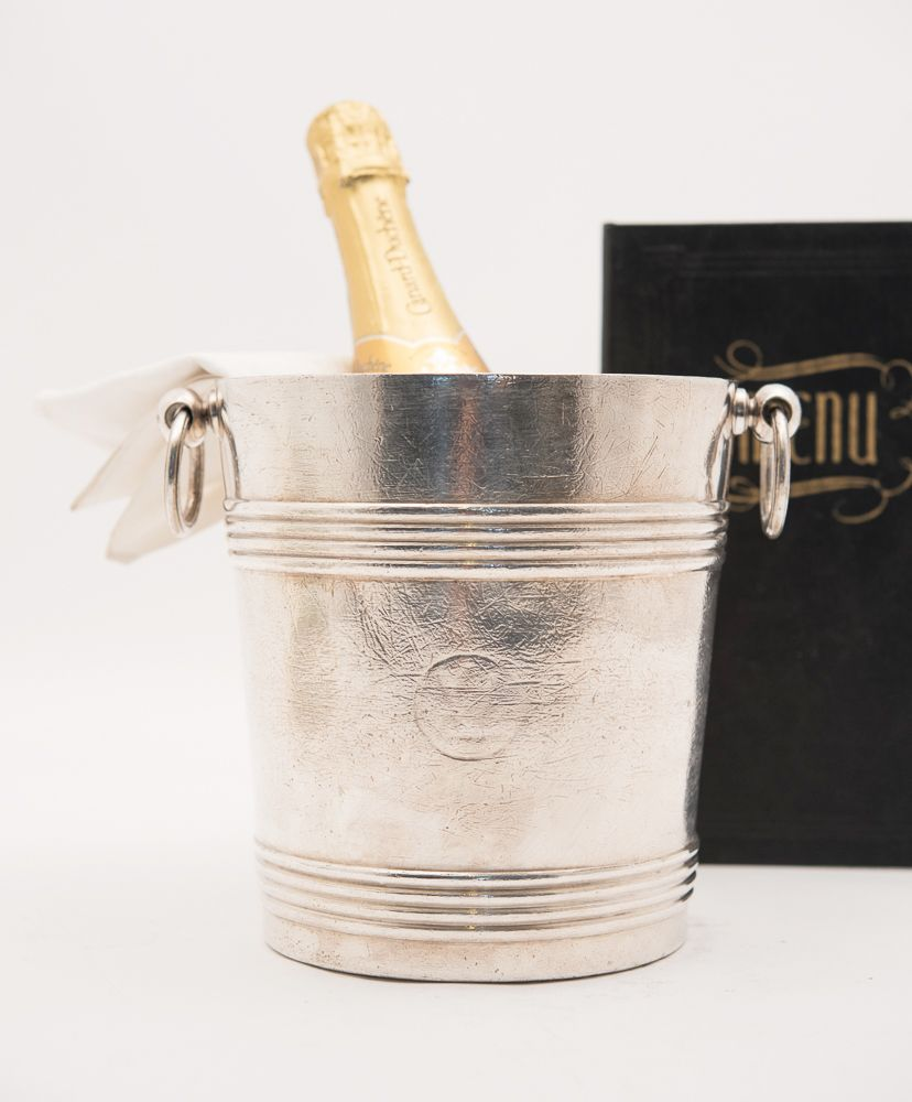 1920s French Chrisofle Hotel Silver Wine Bucket