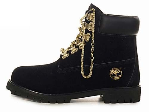 Cheap For Women's Timberland 6 Inch Gold Chain Boots Black