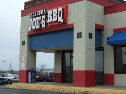 oklahoma joe's kc had dinner here sat. night with  my daughter and my son.