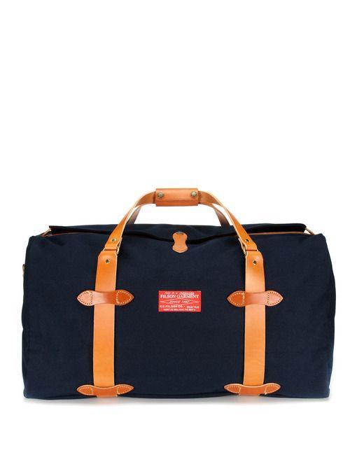 Filson Red Label Medium Duffle Bag by Park  Bond Canvas + Leather