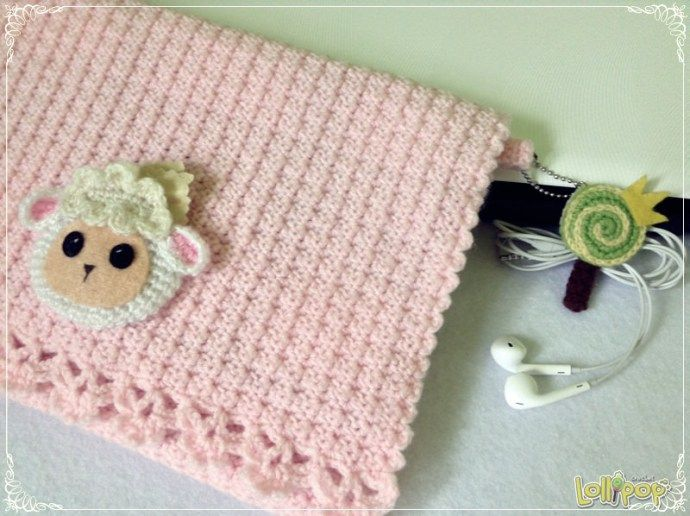 Crochet little lamb Ipad cover | Lollipop Crochet | Crochet ...