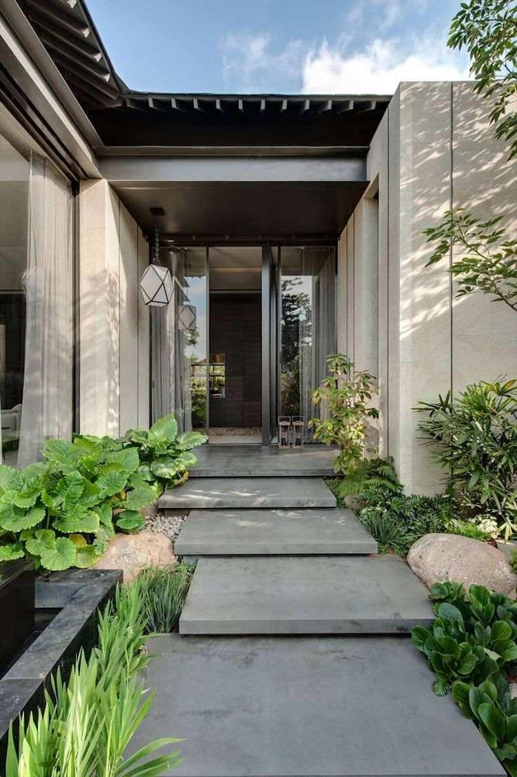 Aménagement Extérieur Entrée Maison aménagement entrée extérieur-donnez envie de franchir votre