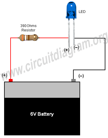 Simple Basic Led Circuit Circuit Diagram Led Projects Diy Electronics Circuit Diagram