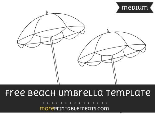 Free Beach Umbrella Template  Medium  Shapes And Templates
