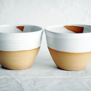 Tea Bowl Modern White now featured on Fab.