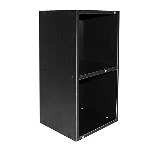 Modern 2 Tire Wooden Bookshelf Stand Free Compact Storage Bookcase CD Display Shelving Unit