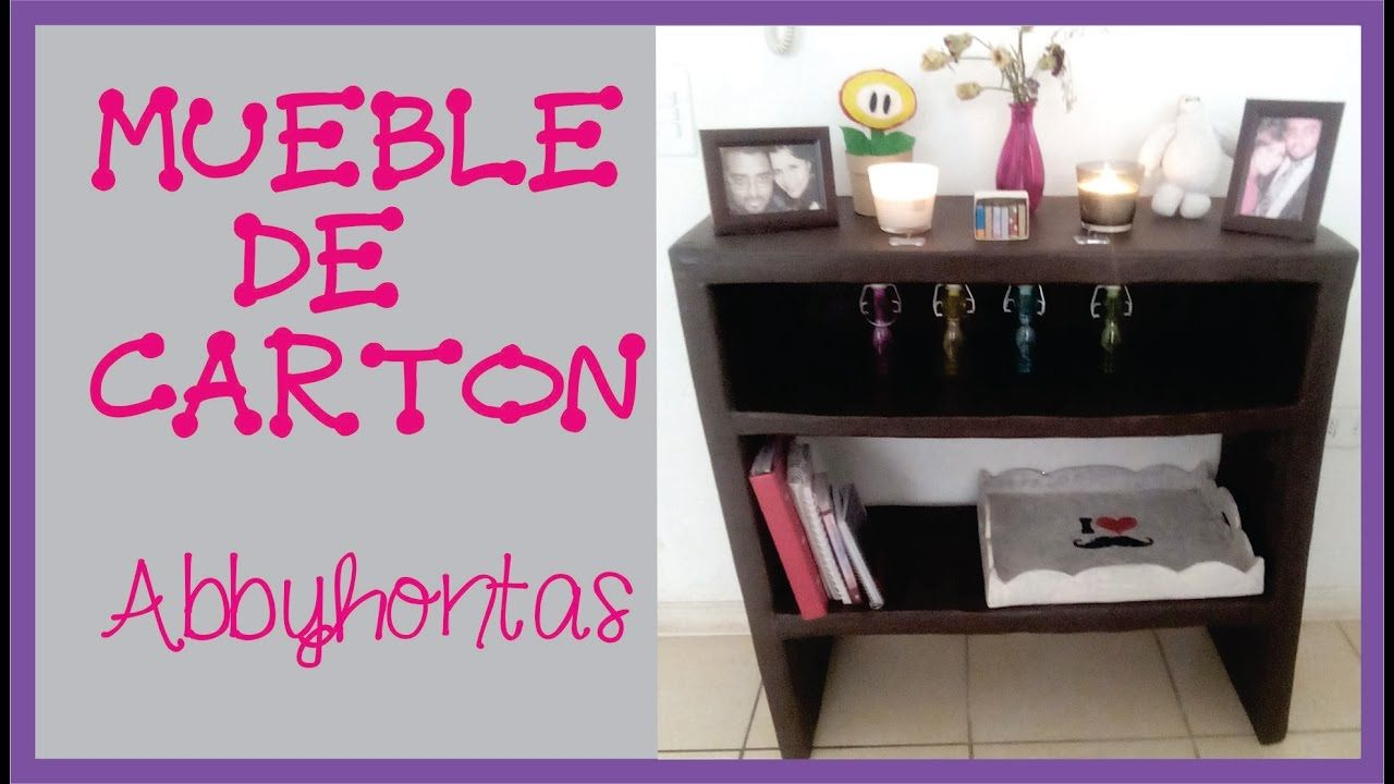 Manualidades C Mo Hacer Un Mueble De Carton Muebles Diy  # Muebles De Caeton