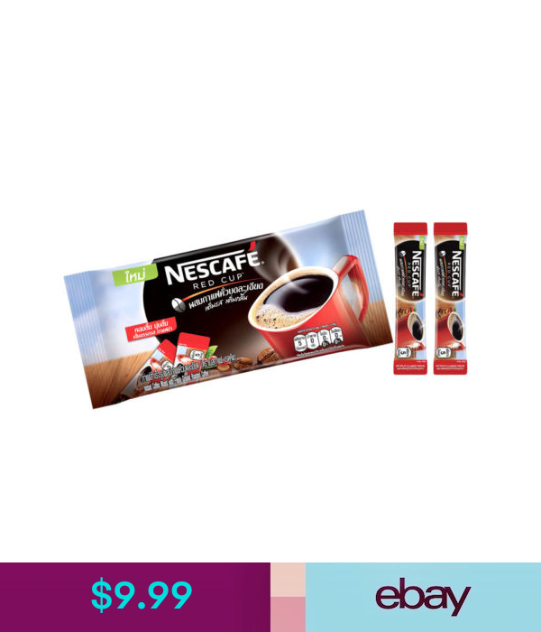 Coffee Nescafe Red Cup Instant Coffee Mixed With Finely