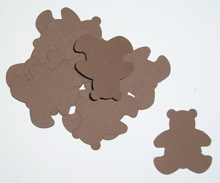 Osos de cartulina marrón-  100 unidades -  de One Little Paper por DaWanda.com