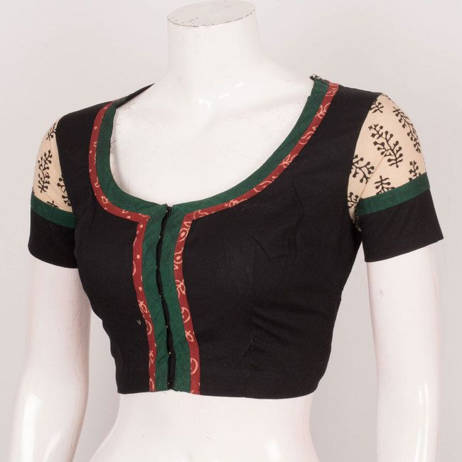 ff902c3b741773 Hand Crafted Cotton Blouse With Embroidery Work 10025143 - Size 40 ...