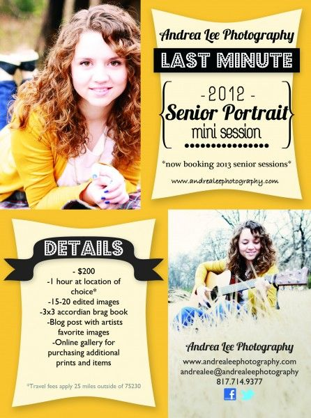 Senior Photography Flyers  Google Search  Design Inspiration