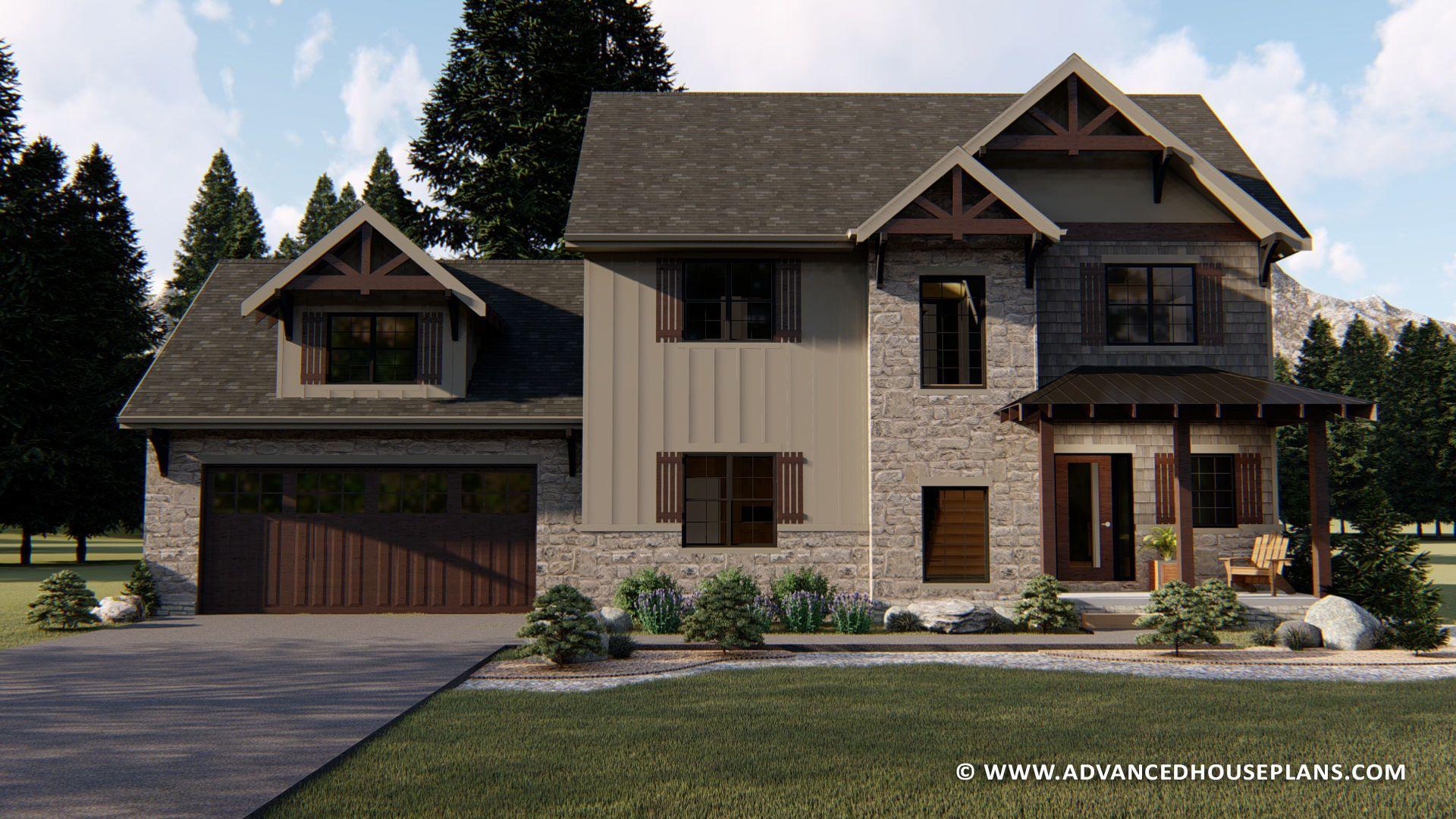 2 Story Craftsman Aspen Rustic House Plans House Plans Rustic House