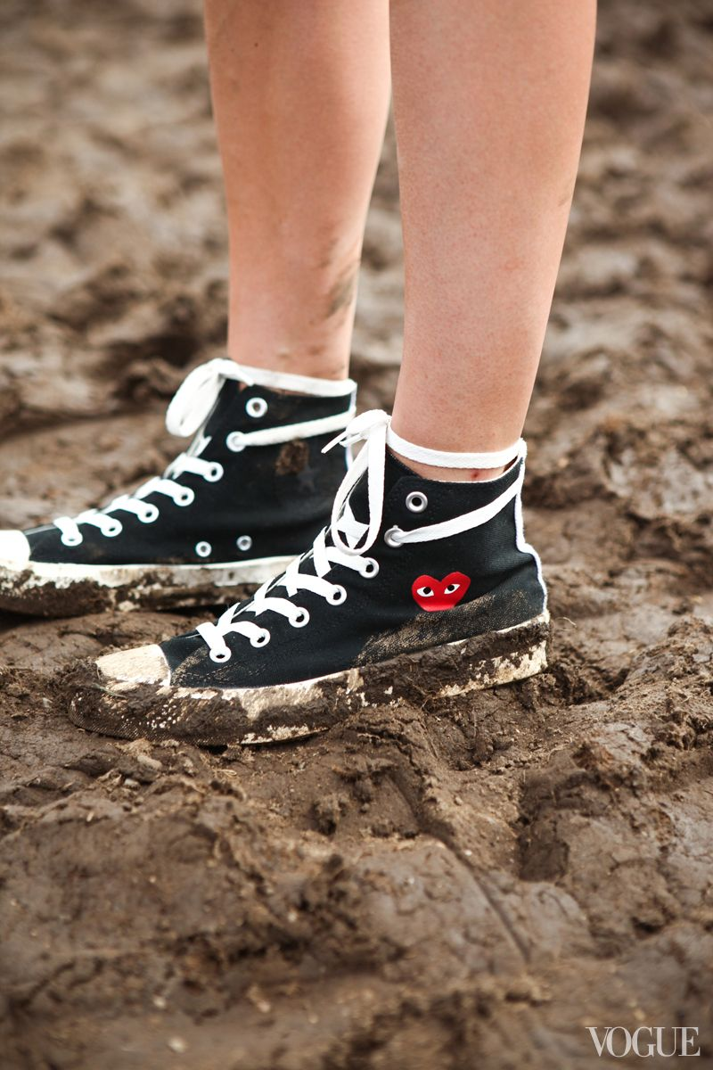 Street Style  The Governors Ball 2013  Comme des Garçons x Converse shoes d3559a361eab