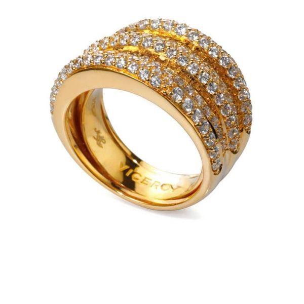 anillo chapado oro circonita