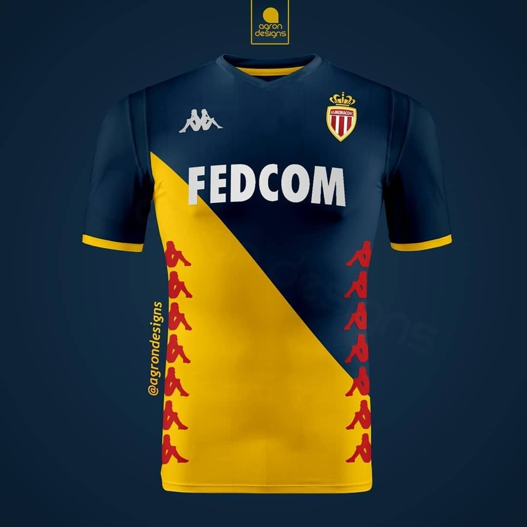 AS Monaco away concept kit | Maglie